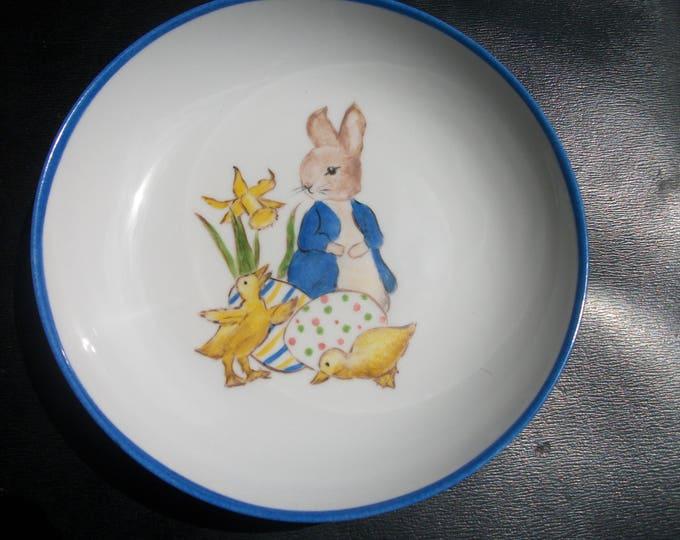 Soup plate / handpainted porcelain / ernfant / rabbit