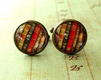 20% OFF -- 16 mm Old Books Cuff Links ,Mens Accessories, Anchor Cuff links,Perfect Gift Idea