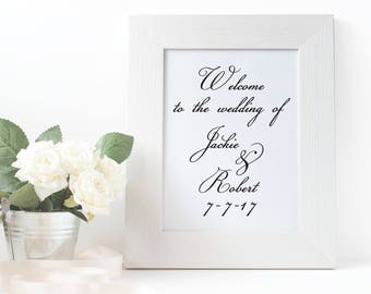 Custom Wedding Decal, Wedding Welcome Sign, Wedding Decal, Wedding Sign, Personalized Wedding Decal, Wedding Decor, Custom Wedding Decor