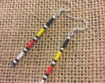 Eastern Woodlandz Four Directions Beaded Stick Earrings