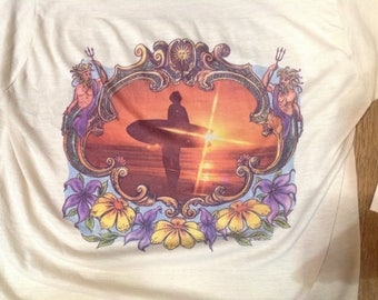"1974 Texas Endless Summer Surfer T Shirt sz 34"" in VG+ Cond."