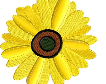 Daisy Embroidery Design, Daisy, Embroidery Design, Machine Embroidery, Floral Embroidery, Instant Download