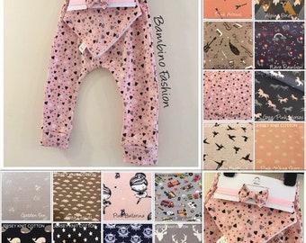 Handmade Boys/Girls/Baby 3 Piece Set - Leggings/Dribble Bib/Headband - size 0-3m to 4-5yrs - Various Patterns - Made to Order