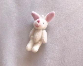 Mini White Bunny Rabbit Charm