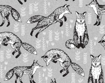 fox fabric by Andrea Lauren  - Cotton/ Polyester/ Jersey/ Canvas/ Digital Printed