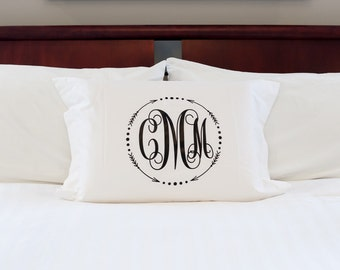Monogrammed Pillow Sham-Popular Arrow Circle