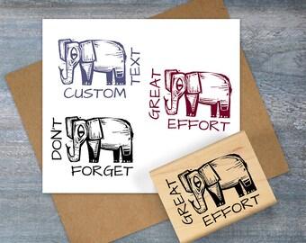 Teacher Stamp, Elephant Grading Stamp, Teacher Gift, Don't Forget, Great Effort, Custom Teacher Grading Rubber Stamp, Classroom Stamp 111