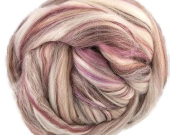 Superfine merino wool roving 19 microns 4 oz,color blend (November)