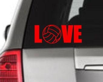 Love Volleyball Window Decal, Volleyball Window Decal, Love Volleyball Car Decal, Volleyball Car Decal, Volleyball Vinyl Decal, Soccer Vinyl