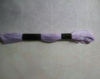 1 skein of yarn color purple 100% cotton 8 m