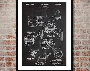 Mooney Airplane Decor, Airplane Art, Airplane Print, Aviation Decor, Airplane Patent, Aviation Art, Aviation Art, Pilot Gift