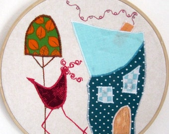 Wall decor, nursery frame childlike, deco hoop fabric, pattern only