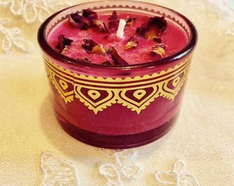 Rose Pomegranate and Vanilla Candle