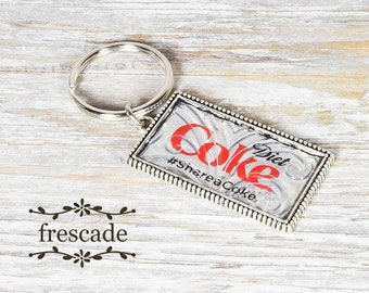 Diet Coke Keychain Recycled Soda Can