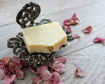 Lavender Chamomile Soap - Natural Handmade Soap - Botanical Soap - Lavender Essential Oil Soap - Cold Process Soap Bar - Herbal Soap