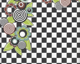 Three Bugs in a Rug ~ Chalk Garden ~ Grow ~ 12 x 12 Cardstock