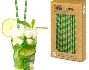 Paper Straw Bamboo- box of 144