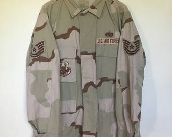 Vintage Airforce Jacket / Military / Patches / Airforce / Uniform