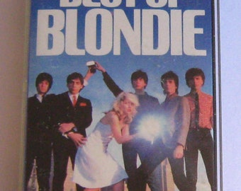Blondie Cassette Tape Best Of 1985 UK release with paper labels debbie deborah harry heart of glass denis tide is high sunday girl rapture