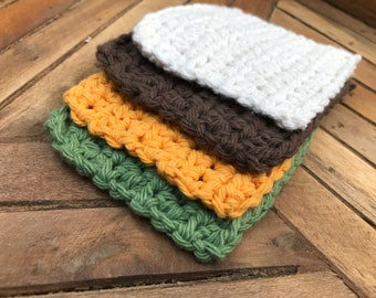 Crocheted Coasters - Harvest Set of 4