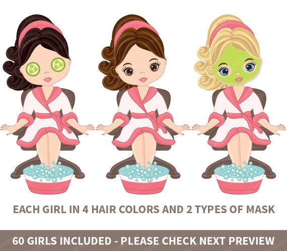 60 spa girls clipart vector spa girl spa party clipart spa rh etsystudio com spa clipart images spa clip art images