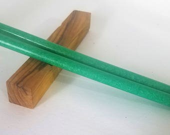 Emerald Glitter acrylic hair stick (choose 1 or more)