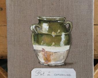 """Canvas """"Pot of preserves"""""""