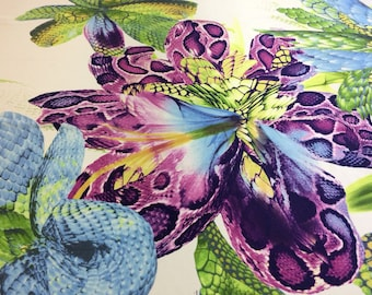 Fabric for sale! Designer silk fabric.Price -50% last 2 pieces 1.4 meters each!