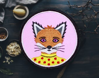 """The Fox in the Dress Patch 