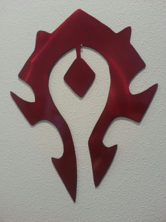 World Of Warcraft Alliance And The Horde Metal Art Decor