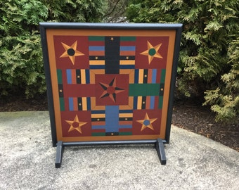 Parcheesi, Game Board, Wood, Hand Painted, Folk Art, Primitive, Game Boards, Game Room Decor, Wall Art, Wall Hanging, Board Game, Game, Art
