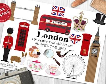 London clipart, London clip art, British clipart, British clip art, London vectors, travel clipart, England clipart, commercial use clipart