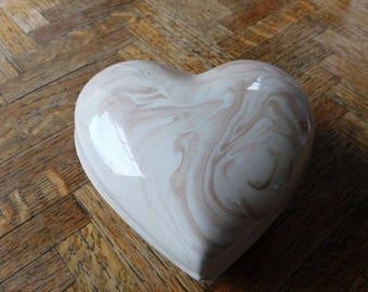 Mount St. Helens ashware heart trinket box (very rare)