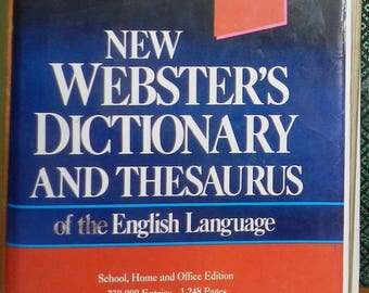 New Websters Dictionary and Thesaurus of the English LanguageHardcover – 1992