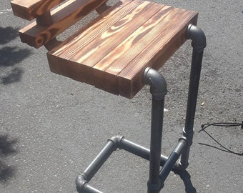 Pipe Stool, Bar stools, Heavy Duty Black Pipe stool