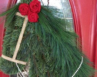 Red Burlap Horse Wreath
