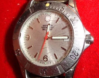 wenger mens swiss military watch all stainless steel
