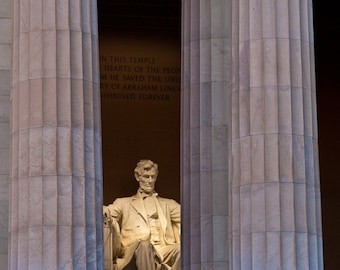 Washington DC Photography, Lincoln Memorial, Fine Art Photography, Washington DC Art, Washington DC skyline, Wahsington dc print