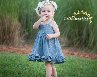 Felicity Dress & Top, PDF Sewing Pattern, girls maxi dress, baby sewing pattern, girls dress pattern, dress pattern pdf, vintage twirl dress