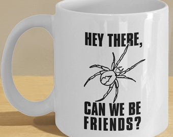 Spider Lover Mug  - Best Friend Coffee Cup Gifts - Funny Insect Art
