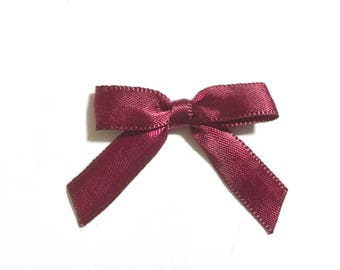 12/24/48/100 Burgundy Wine Mini Handmade Bows