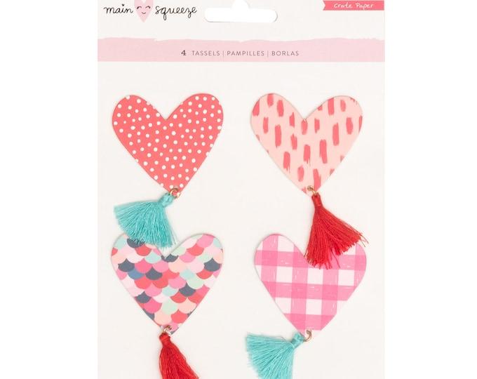 Main squeeze crate paper heart tassels