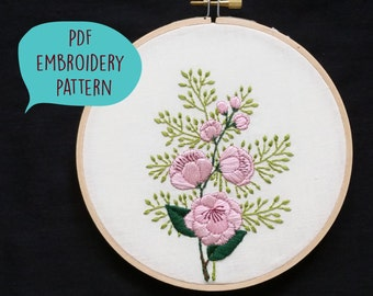 PDF embroidery pattern for Floral Sprig by galemofre