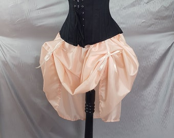 "Peach Knee Length Bustle Skirt-One Size Fits Up To A 52"" Waist"