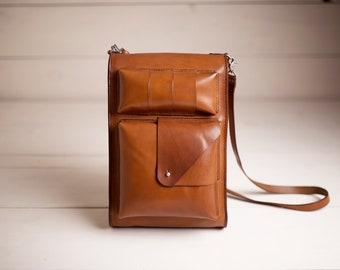 Leather Backpack Satchel - Laptop Bag - Shoulder Bag - Daypack - School Bag - Handmade Leather Bag - Leather Messenger - Men Backpack Women