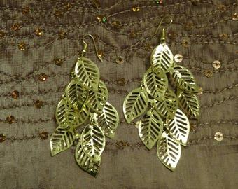 cascade earrings gold leaf