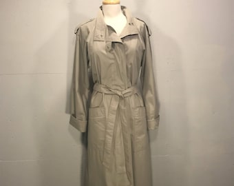 Vintage Sport Ease Fashions,  80s Trench Cooat, Military Style Raincoat, Retro All Weather Coat