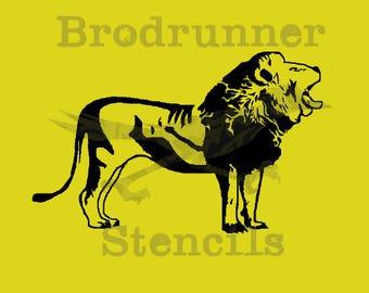 Lion Stencil-- Reusable, different sizes available