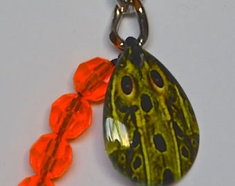 Green Frog Skinz Lucky Lure Key Chain