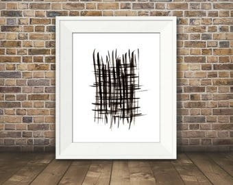Expression #2, Abstract Black and White Art, Black and White Art Print, Minimalist Art